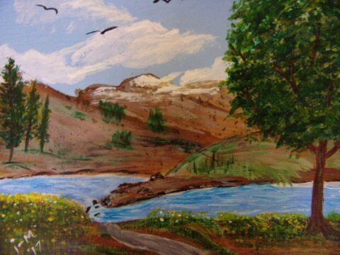 Landscape 8x10 Acrylic