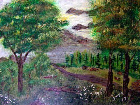 Landscape 9x12 Acrylic Canvas