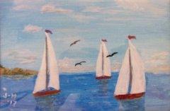 A Sailing We Will Go 4x6 Acrylic